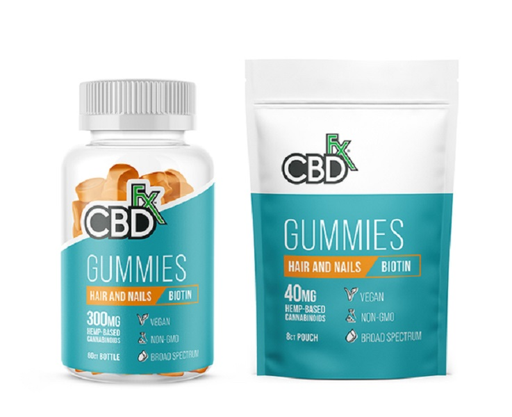 CBD Gummies with Biotin for Hair & Nails by CBDFx Review