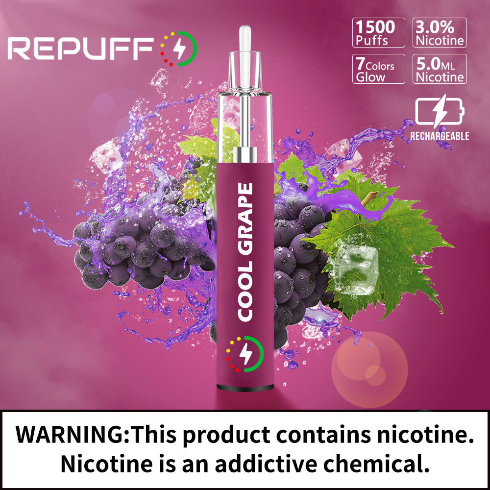 Review of Repuff Disposable Cool Grape Pod
